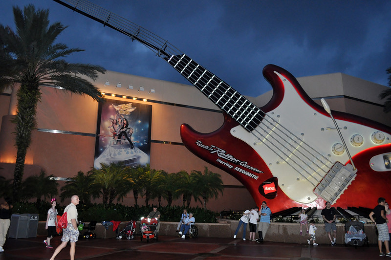 Rock N Roller Coaster starring Aerosmith! Rob loved it, the boys and I hung outside.