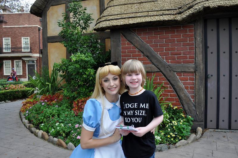 Lincoln & Alice in Wonderland.