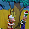 Phineas & Ferb doing some dance moves as they came in. :)