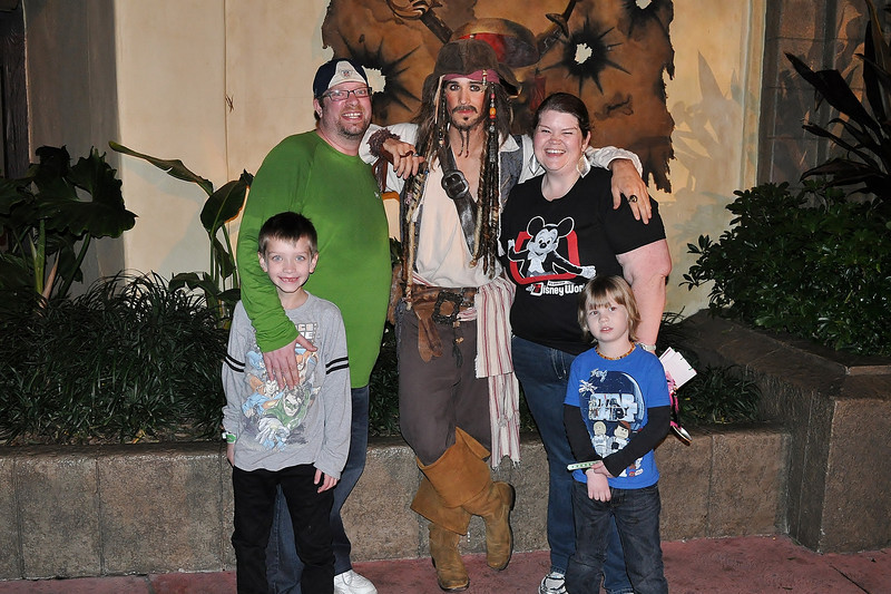 The family with Captain Jack. 12.15.12