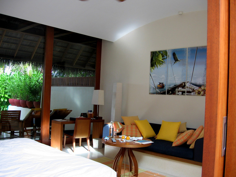 Our room with fresh fruit every day