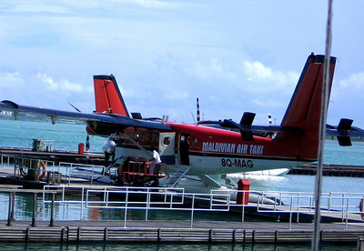 Our ride from Male to Rangali - a seaplane!