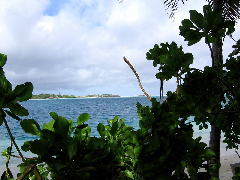 Our villa--overlooking the Rangali Bay