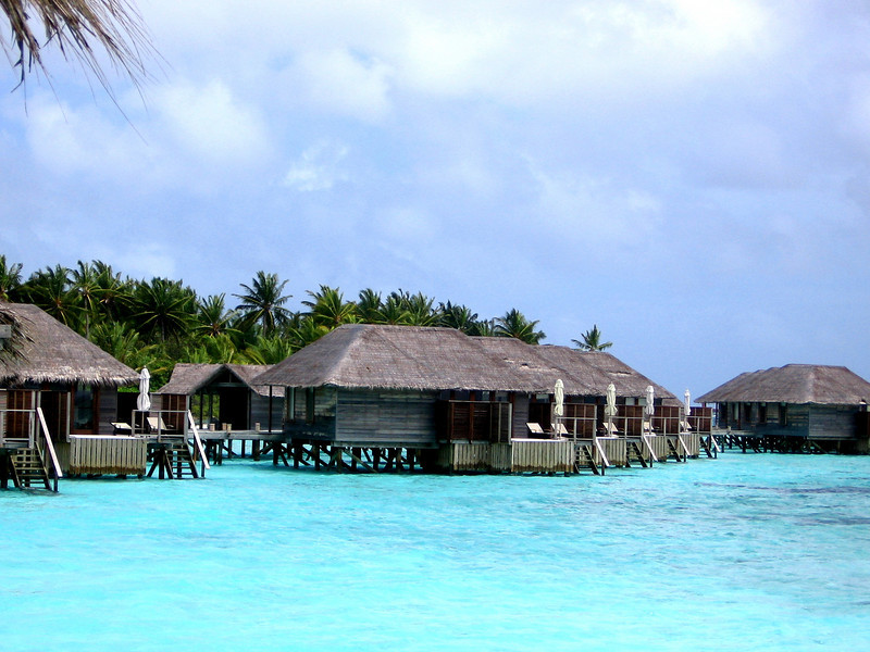 The over-water bungalows