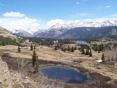 A scenic view along the Million-Dollar-Highway between Durango and Ouray, Colorado.