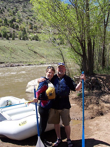 After a two hour raft trip on the Animas River through Durango.
