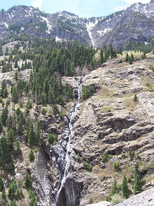 Many impressive waterfalls line the route between Silverton and Ouray, Co.