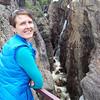 Caroline at the Ouray Box Canyon falls.