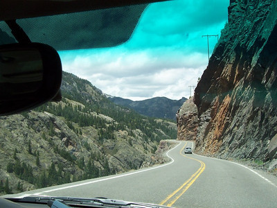 The Million-Dollar-Highway between Durango and Ouray, Colorado.