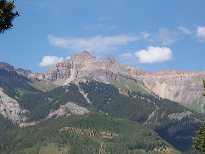 Wilson Peak above Telluride. This is the mountain on the Coor's beer label.