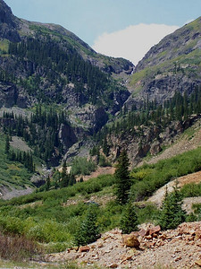 Waterfall just north of Silverton, Colorado, on the Million Dollar Highway.
