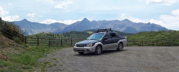Caroline's Baja on the road between Ouray and Telluride, Colorado.