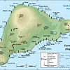 The island is volcanic having formed over a Pacific hot spot much like the Galapagos and Hawaiian Islands.  It is fairly small, only 45 sq miles in total.  The maximum length is 15 miles and width is 8 miles.  There are 4 extinct volcanos on the island - Terevaka, Puakaike, Rano Raraku and Rano Kau.