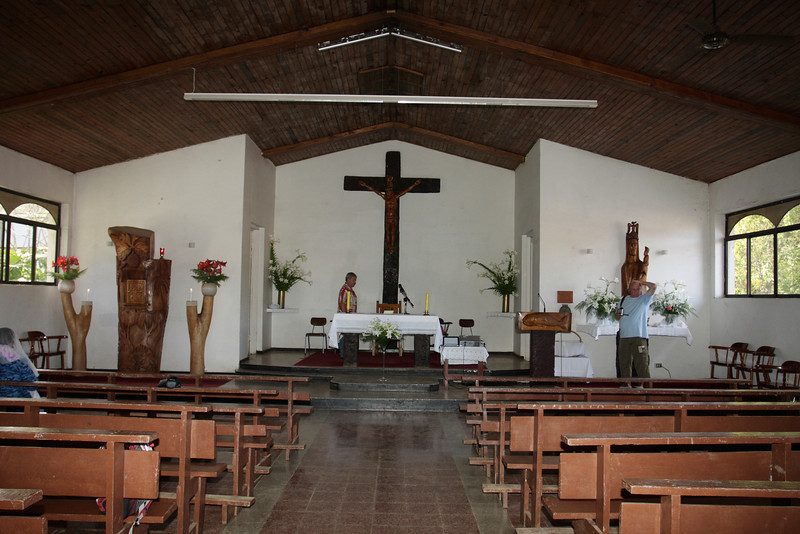 The Catholic church played a key role in the history of Rapa Nui and is a significant presence in the island.