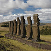 Once the Moai reached their destination it is hypothesized that either using levers and pulleys or gradually filling behind them with small stones, they were pulled up on the Ahus.  Ahu Akiva