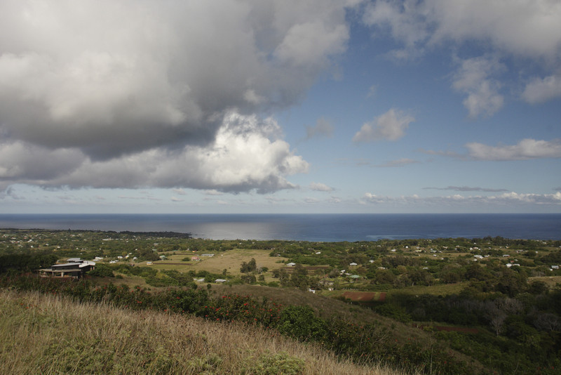 Today most of the 4,500-4,900 people live in Hanga Roa on the west coast.  In the 16th & 17th century, there were approximately 15,000 people living on Easter Island scattered in agrarian clans or families.  It is hypothesized that this population declined radically due to warfare and/or starvation, probably in response to limited resources.  The foreigners who started arriving in 1722 introduced disease and later Peruvian slave traders came and captured some of the Rapa Nui, only 85 of whom returned.  By 1877 there were only 112 Rapa Nui living on the island.
