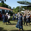On Sunday the islanders danced what looked like a very South American dance after the church service.
