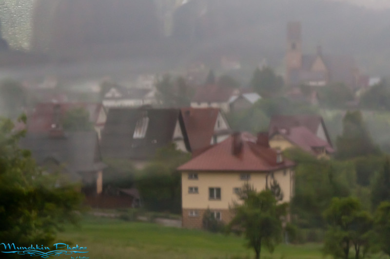 rainy Solvak country side