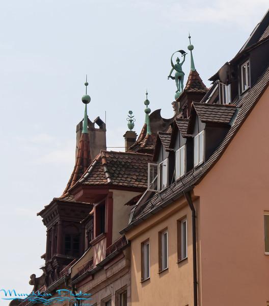 the rooftops of Nuremberg