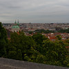 looking out over Prague from castle hill