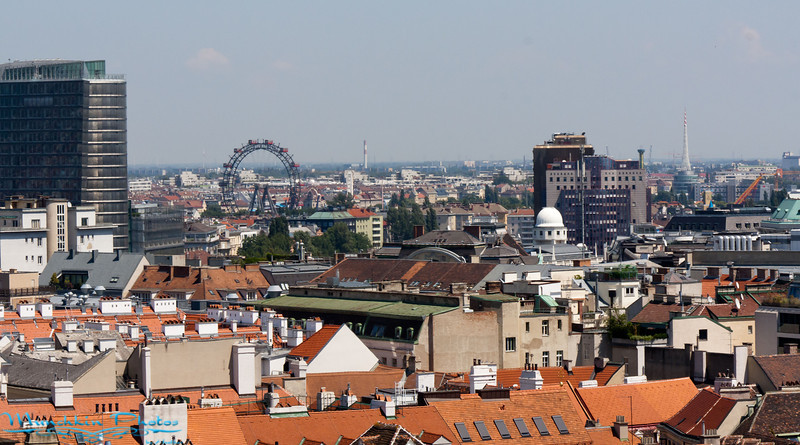 looking out over Vienna from the top of St. Stephen's