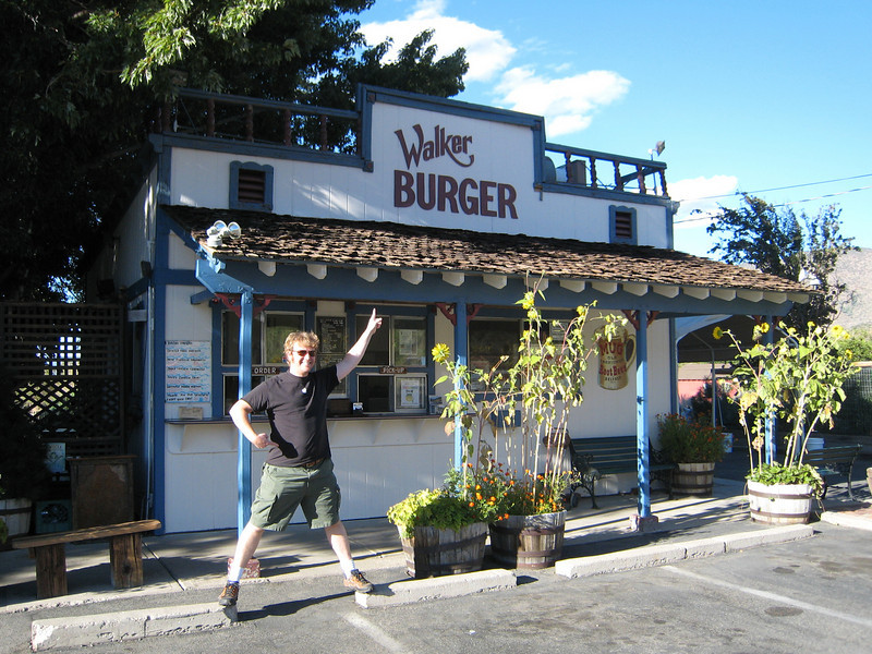 Dan anticipates Walker Burger in his belly