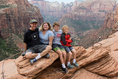 The family at Zion.