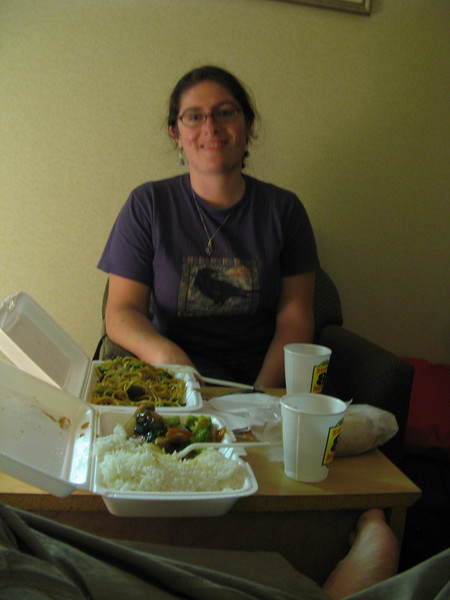 We made it back to New York, where we ate Chinese food for a total price of $12.00.  The last full meal I remember from Scotland cost 12 pounds.  Aaaaaaa!  The vacation was expensive.