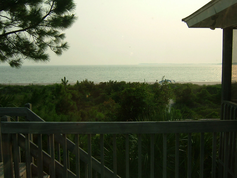 View of St. Helena Sound from our deck.  We saw many dolphins in the Sound.