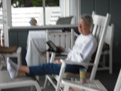 Enjoying our porch
