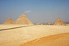 The three pyramids at Giza