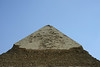 The top of Pyramid of Cephren (Cheops' son) - Giza