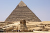 The Pyramid of Cephren (Cheops' son) and the Sphinx - Giza