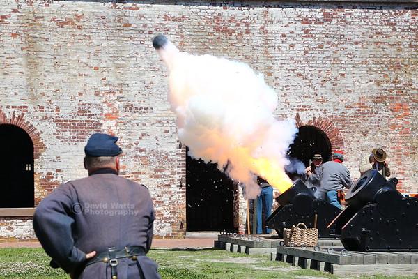 Mortar Fires at Fort Macon