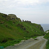 walk way leading to Tintagel Castel