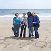Rosemarie, Sarah, Eve, Diabel and Jessica on Looe Beach on July 2nd.