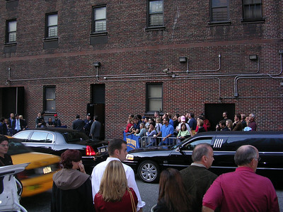 Outside David Letterman Studio