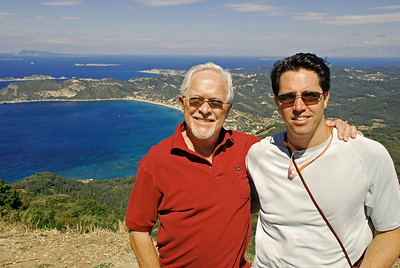 Bill and Brett on west coast of Corfu