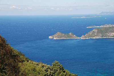 Ionian Sea from Corfu's west coast