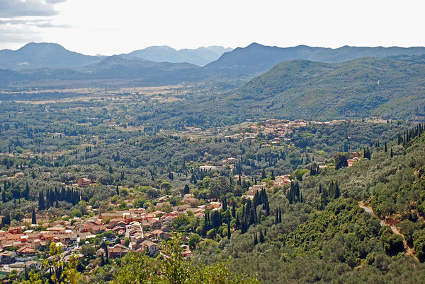 Corfu's Landscape from a hilltop in western side of island