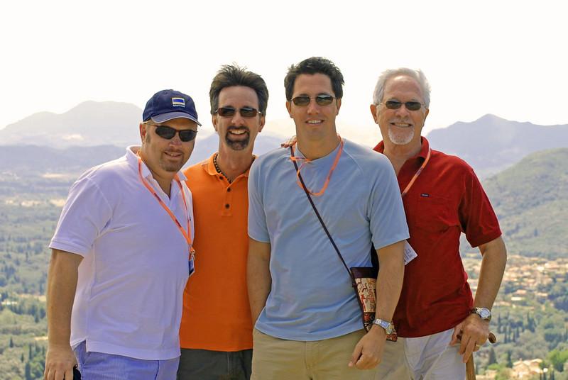 Wes, Jerry, Brett, & Bill on Corfu