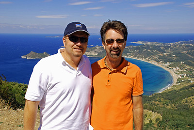 Wes and Jerry at Corfu's west coast