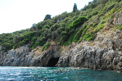 One of the sea caves in Corfu