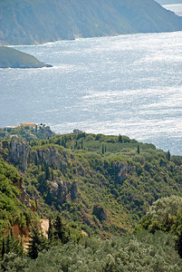 Cliffs on Corfu near Palaeokastritsa (Old Castle)