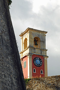 Clock Tower at Corfu's Old Fort