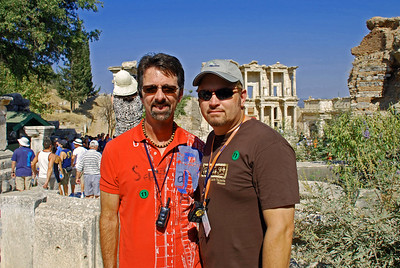 Jerry and Wes in Ephesus (Library of Celsus in background)