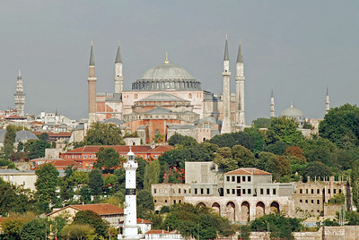 Haghia Sophia as ship entered Istanbul