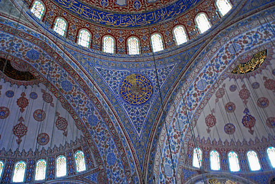 Interior domes of the Blue Mosque