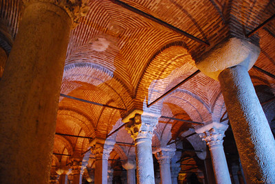 Cistern has 26 ft columns set at 13 ft intervals; some capped by Corinthian capitals