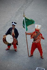 Turkisk band at cruise ship port